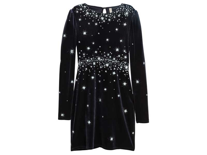 Velvet dress by H&M at City Centres