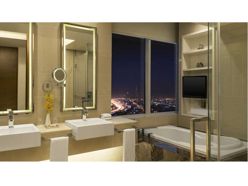Bathroom goals at Sheraton Dubai Mall of the Emirates Hotel