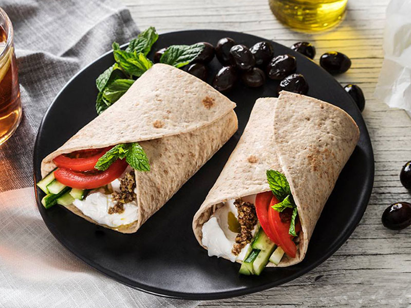Healthy food at Zaatar W Zeit in Mall of the Emirates food court