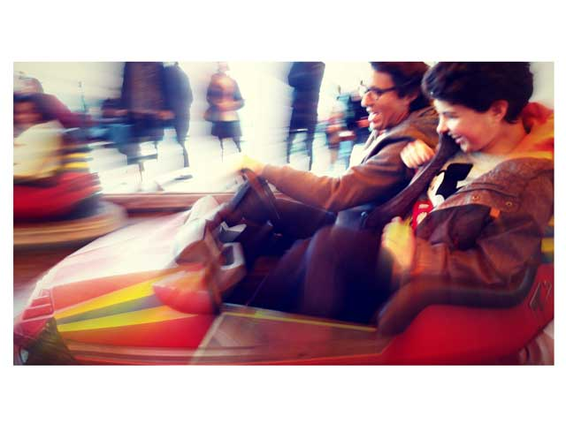 Bumper car fun at Magic Planet across Dubai